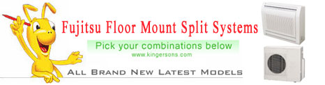 floor mount fujitsu splits