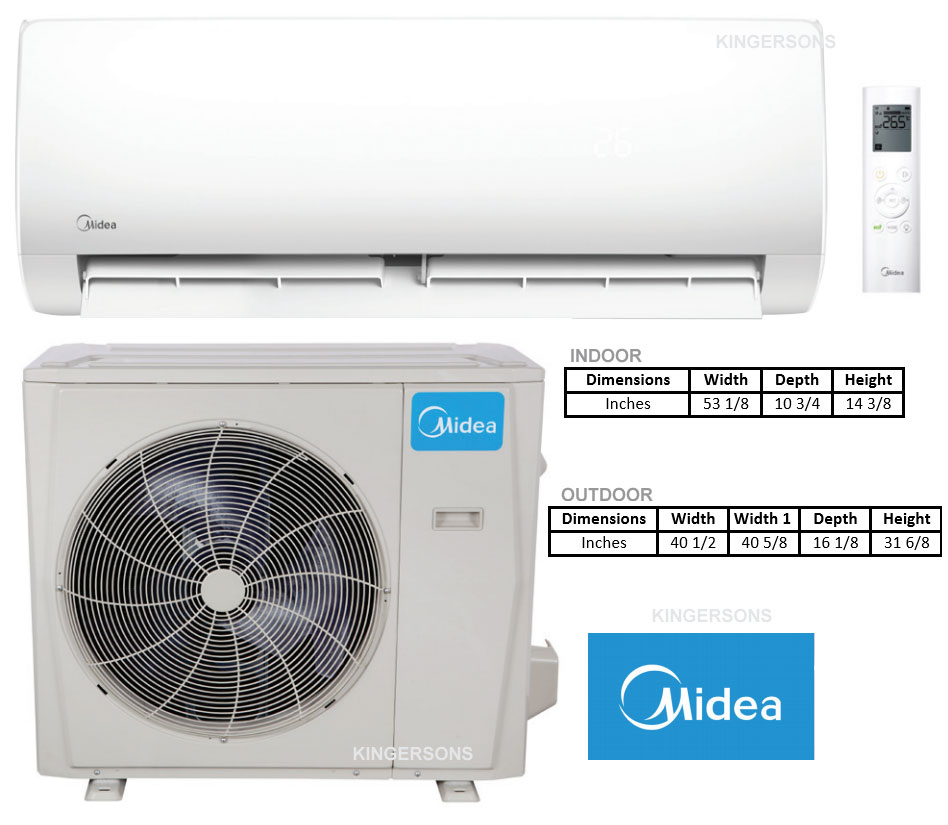 Buying Guide For Midea 30 000 Btu 20 Seer Ductless Mini Split Air Conditioner And Heat Pump 230v