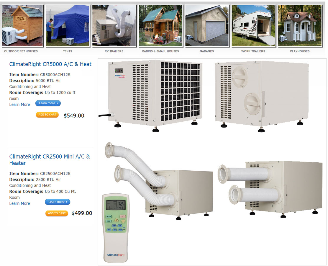 RV shed tent doghouse split air conditioner ductless mini split ac heat pump unit  sc 1 st  Kingersons & RV shed tent doghouse split air conditioner ductless mini split ac ...