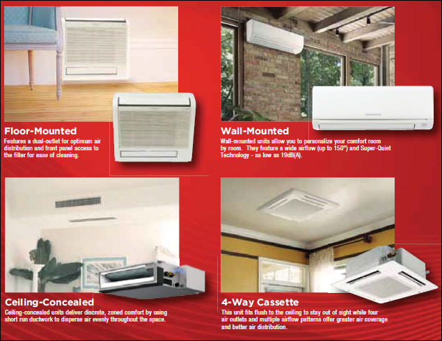 Ductless Split Air Conditioners Ac Unit Heat Pump System