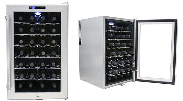 Wine cooler refrigerator under counter 28 bottle vibration Wine cooler brands
